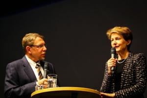 Simonetta Somaruga und Peter Seeberger
